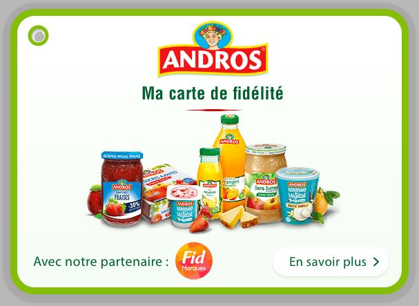 Andros gourmand & végétal : Carte de fidélité